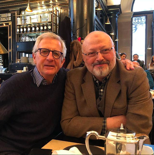 Jamal Khashoggi and Robert Lacey