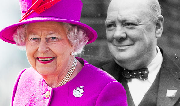 The Queen and Winston Churchill
