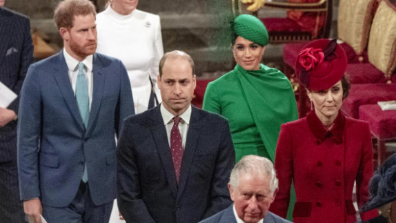 The final time Harry, Meghan, Kate and William were seen in public