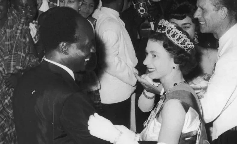 The Queen with Ghanian President